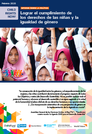 Informe sobre la política de la Alianza Child Rights Now!