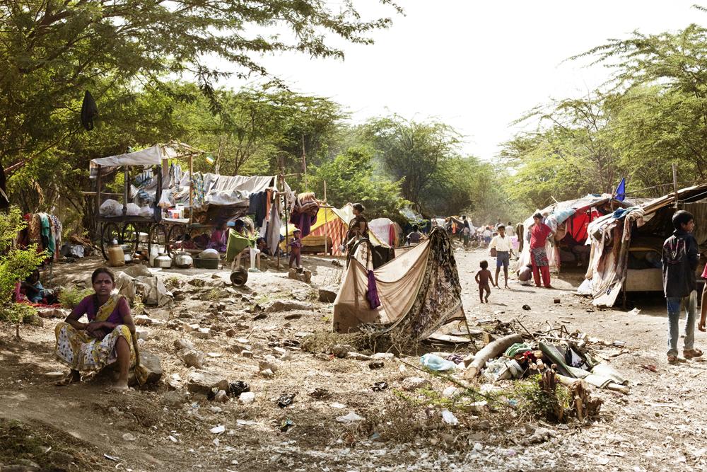 Pune, India, 17_23 febrero 2013 slum Phulenagar 50 casa 150 miembros 40 niños