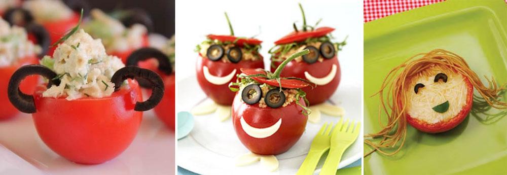 Recetas divertidas con tomates