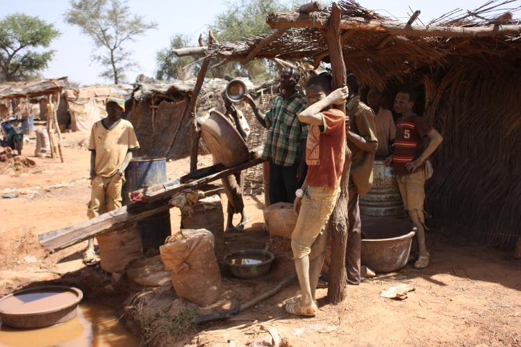 lavado del oro en Burkina