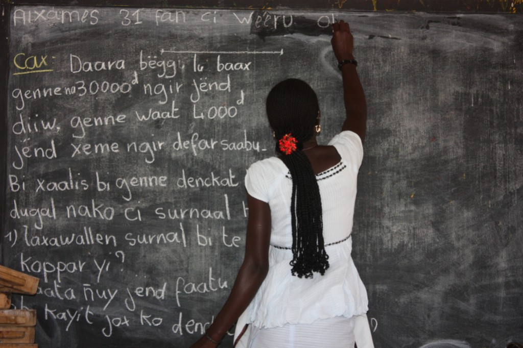 Profesora alfabetización Senegal