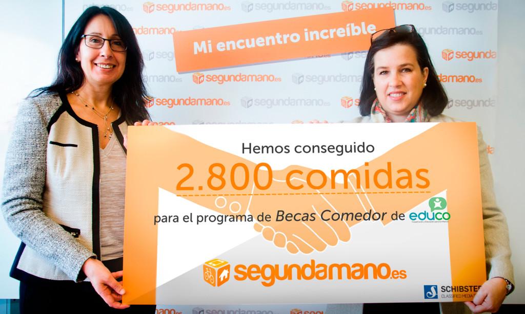 Carmen Limia, Directora de Marketing de Schibsted Classified Media Spain, y Marifé Escobar, responsable de relaciones corporativas de Educo