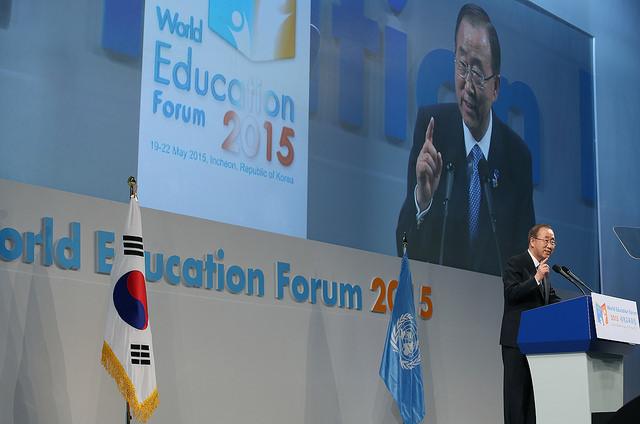 Inauguración fórum mundial educación Corea del Sur