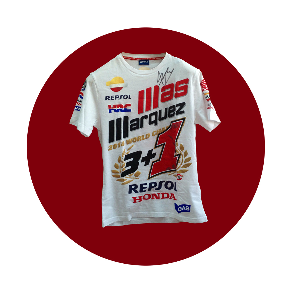 Camiseta firmada Marc Márquez