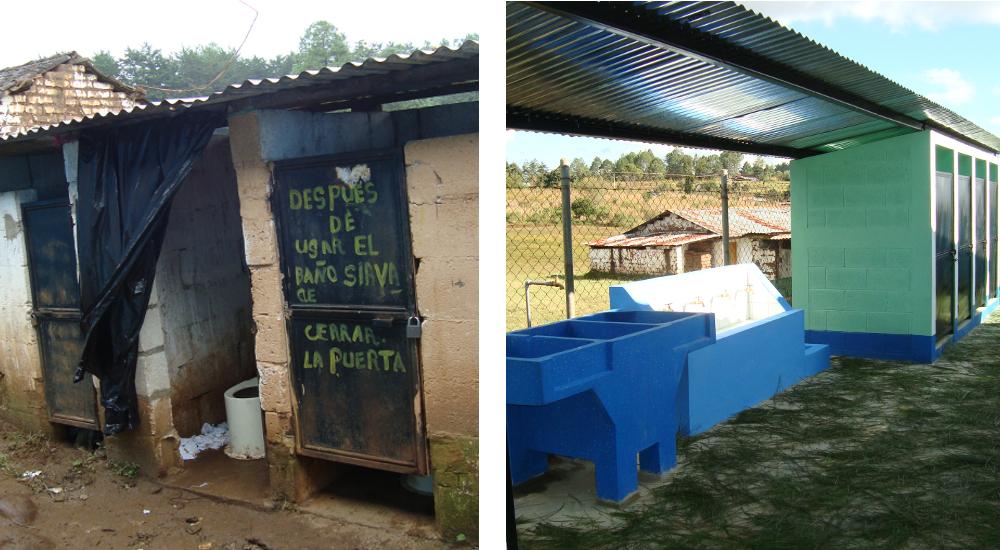 Las sucias e insalubres letrinas de antes han sido reemplazadas por unos sanitarios en condiciones