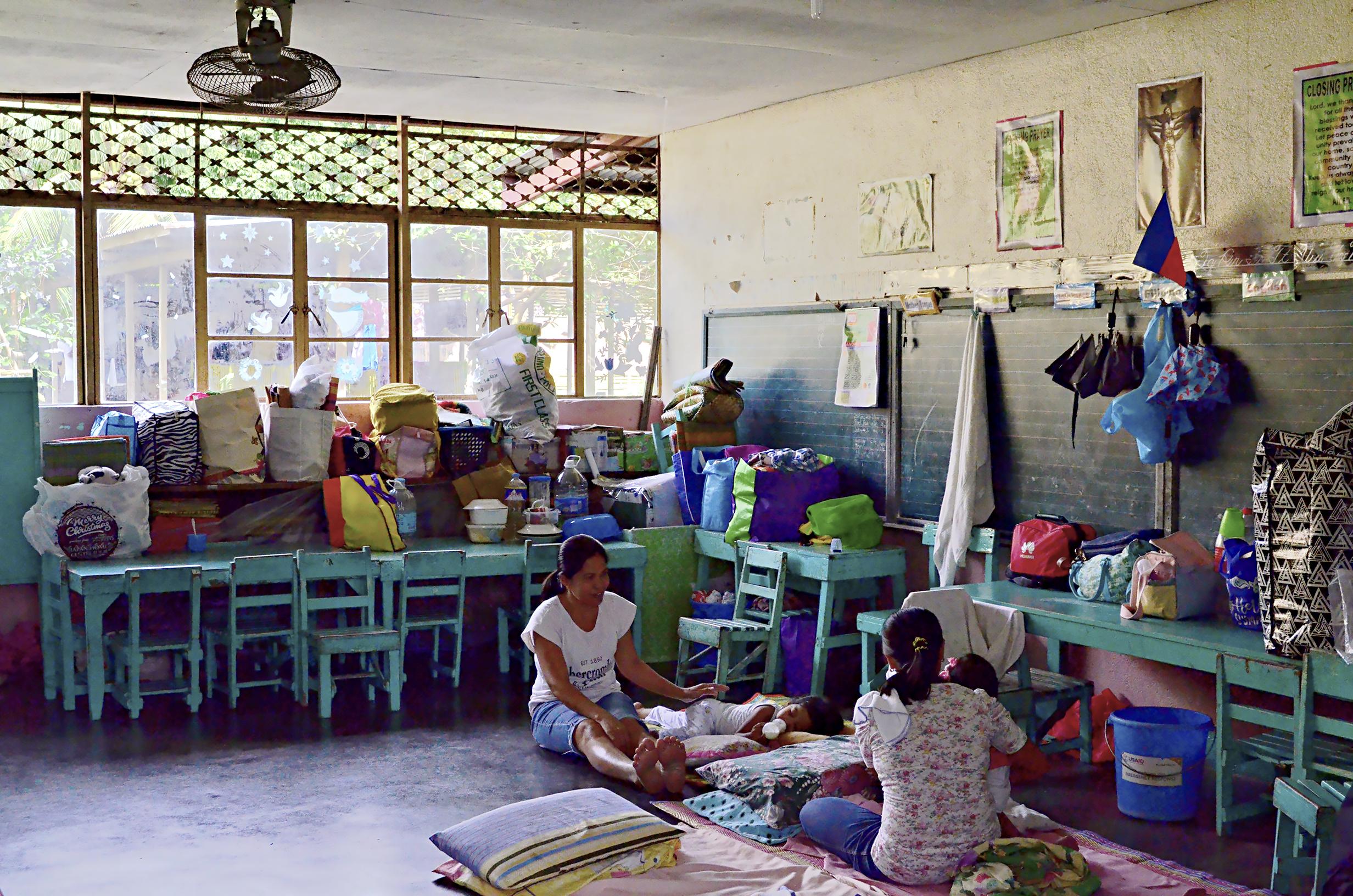 Escuelas habilitadas para albergar a la población
