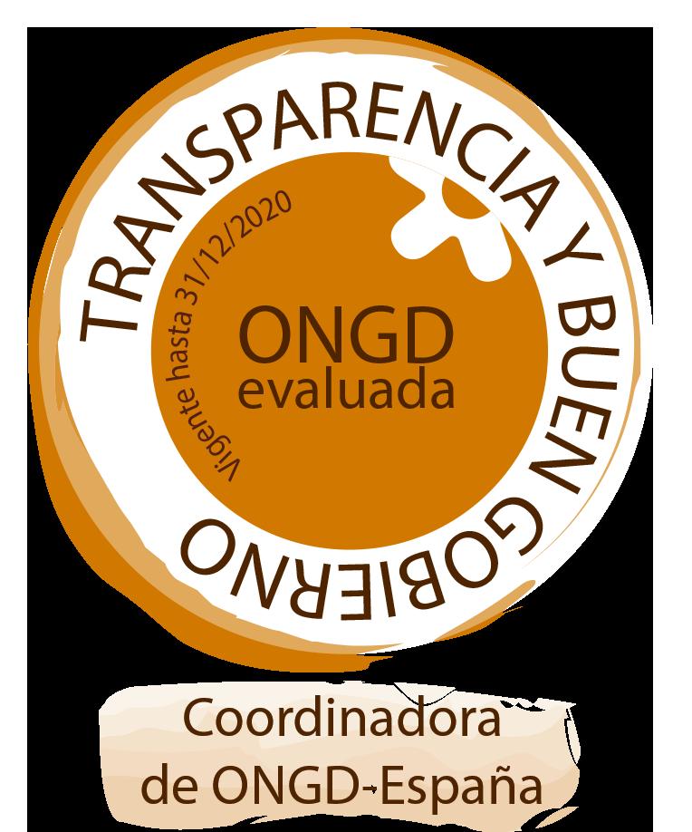 sello de 'Transparencia y Buen Gobierno - ONGD evaluada'
