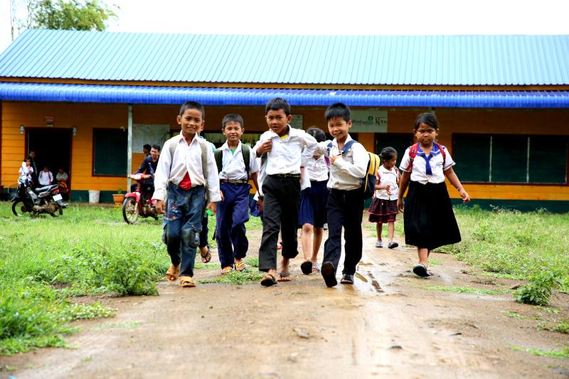 Foto de la entrada:Construimos escuelas seguras y acogedoras para la infancia camboyana