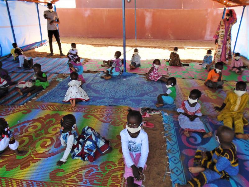Foto de la entrada:Infancia desplazada en Malí: volver a empezar a través del juego