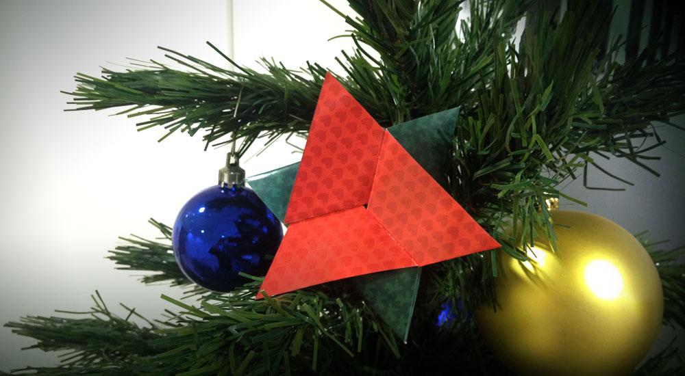 ¡Recorta tu estrella solidaria y cuélgala en tu árbol!