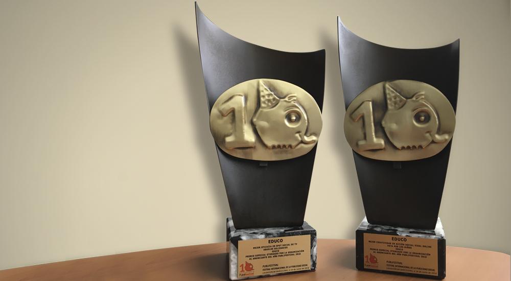 ¡Triplemente premiados en la décima edición del Publifestival!