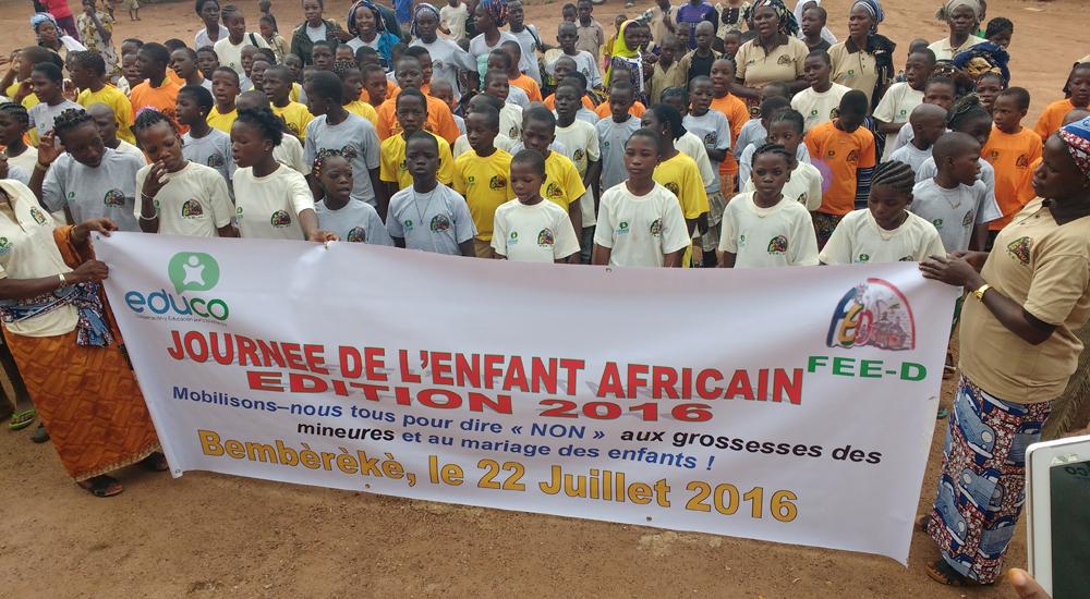 Los niños y niñas de Benín dicen NO al matrimonio infantil