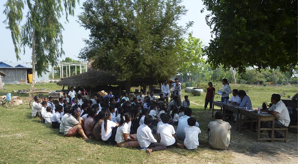 Una nueva escuela para los niños de Krapeu