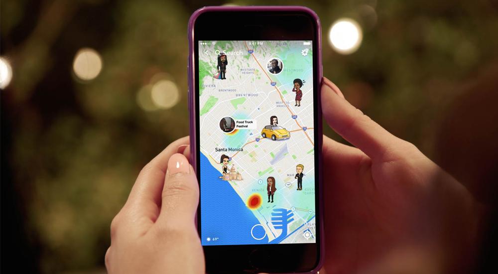 Snap Map, la función de Snapchat poco segura para niños