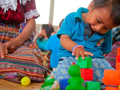 estimulación temprana, niños Guatemala