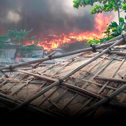 Incendioo en Cox's Bazar