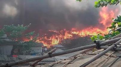 restos del incendio, Cox Bazar