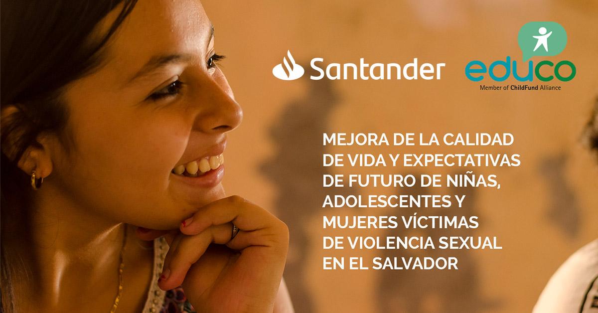 Educo se encuentra entre las ONGs premiadas en la convocatoria de empleados del Banco Santander