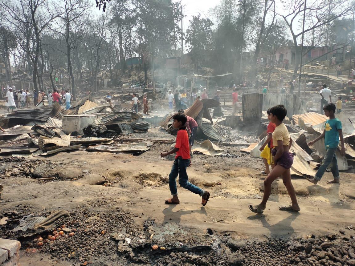 Foto artículo:Declaración conjunta de las ONG sobre los incendios en los campamentos rohingya de Cox's Bazar