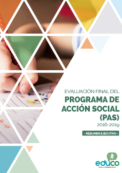 Evaluación final del Programa de Acción Social (PAS) 2016-2019 (Resumen ejecutivo)