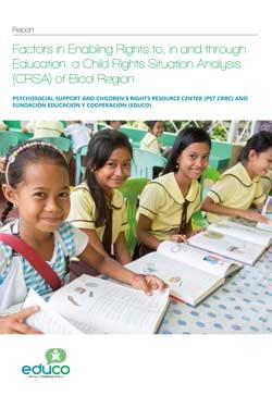 Factores que propician el ejercicio del derecho a la educación, dentro y a través de la educación: un análisis de la situación de los derechos de la N