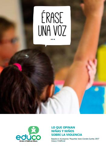 Informe Érase una voz… Lo que opinan niñas y niños sobre la violencia contra la infancia.