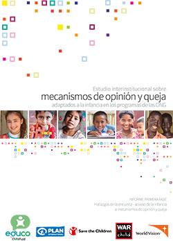 Estudio interinstitucional sobre mecanismos de opinión y queja adaptados a la infancia en los programas de las ONG