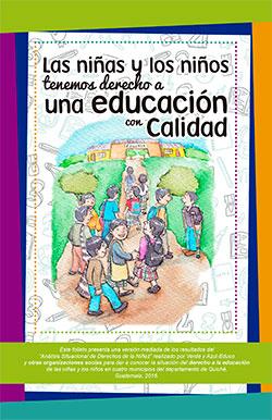 Informe amigable del análisis situacional de derechos de la niñez en materia de educación, Guatemala